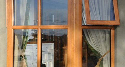 Oak Casement Windows with Georgian Bar